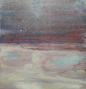 Seaview 16, acrylic on wood, 20 x 20, 2019